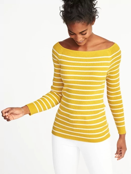 Old Navy Rib-Knit Off-the-Shoulder Sweater